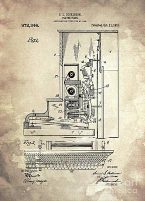 Kim Fearheiley Photography - PLAYER PIANO Patent Year 1910 by Drawspots Illustrations