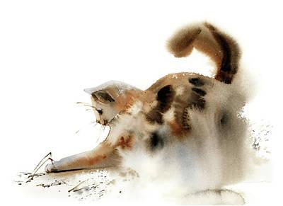 School Teaching - Playing cat by Sophia Rodionov