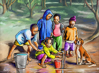 Sean - Playing with Water by Anthony Mwangi