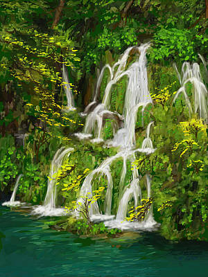Keith Richards - Plitvice Falls Detail by Gary F Richards