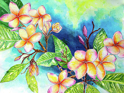 Painting - Plumeria Beauty by Beth Taylor