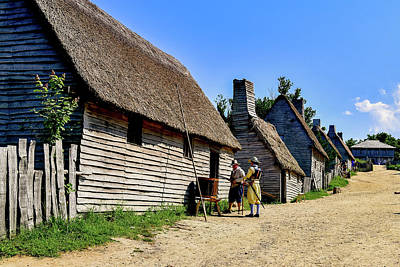 Lake Life - Plymouth Thatched Roof Houses by Clyn Robinson