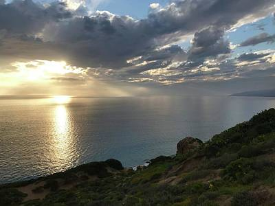 Beers On Tap - Point Dume Sunset by Luisa Millicent