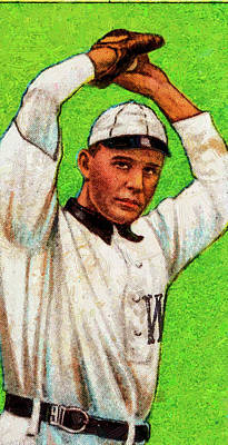 Royalty-Free and Rights-Managed Images - Polar Bear Jesse Tannehill Baseball Game Cards Oil Painting  by Celestial Images