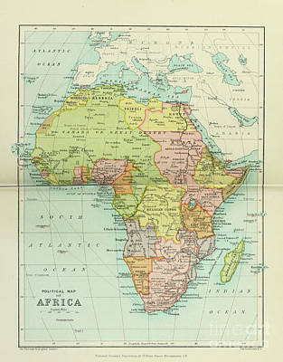 Drawings Royalty Free Images - Political map of Africa i1 Royalty-Free Image by Historic illustrations