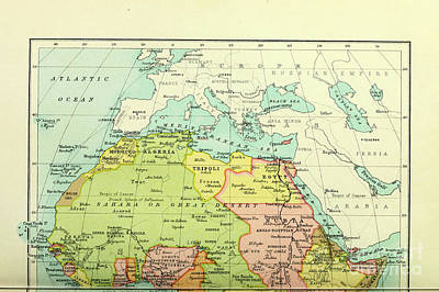 Drawings Royalty Free Images - Political map of Africa i2 Royalty-Free Image by Historic illustrations