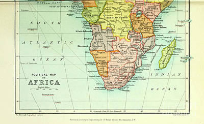 Drawings Royalty Free Images - Political map of Africa i3 Royalty-Free Image by Historic illustrations