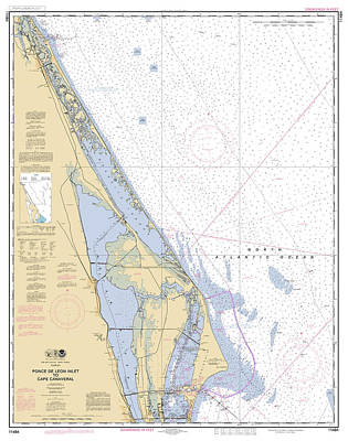 The Champagne Collection - Ponce De Leon Inlet to Cape Canaveral, NOAA Chart 11484 by Nautical Chartworks by Paul and Janice Russell