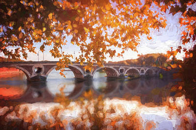 Thomas Kinkade - Pont Neuf Toulouse France Autumn Colors   by Carol Japp