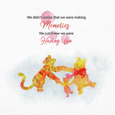 Kim Fearheiley Photography - Pooh memories quote  by Mihaela Pater
