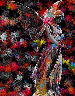 Surrealism Digital Art - Pop Art Angel by Marianna Mills