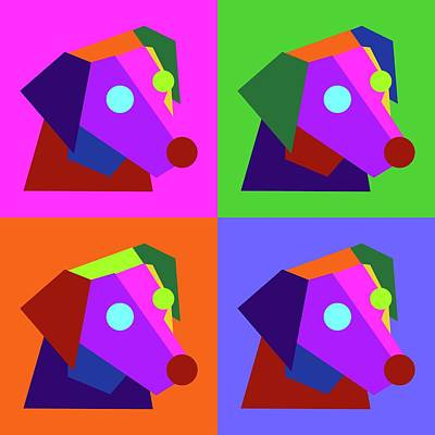 Royalty-Free and Rights-Managed Images - Pop Art Cute Dog Geometric WPAP Style by Ahmad Nusyirwan