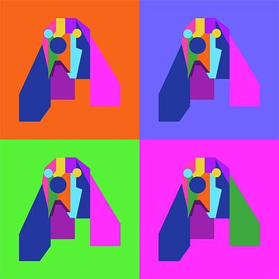 Royalty-Free and Rights-Managed Images - Pop Art Dog Geometric WPAP Style by Ahmad Nusyirwan