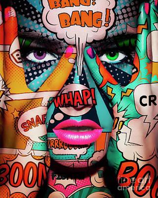 Erik Brede Rights Managed Images - Pop Art Face Part 2 Royalty-Free Image by Erik Brede