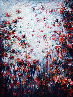 Abstract Airplane Art - Poppies delight  by Harsh Malik