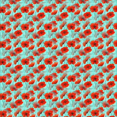 Digital Art - Poppies Everywhere by Debbie Smith