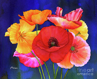 Royalty-Free and Rights-Managed Images - Poppies by Hailey E Herrera