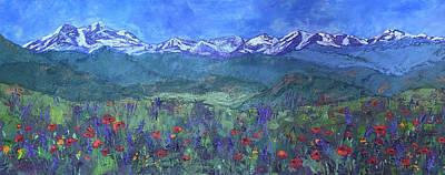 Painting - Poppy Fields Forever by Mary Benke