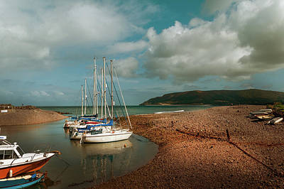 Bath Time Rights Managed Images - Porlock Weir Royalty-Free Image by Linda Cooke