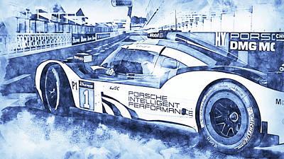 Cartoons Tees - Porsche 919 Hybrid - 05 by AM FineArtPrints
