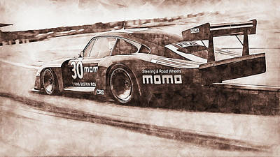Painting Royalty Free Images - Porsche 935 - 04 Royalty-Free Image by AM FineArtPrints