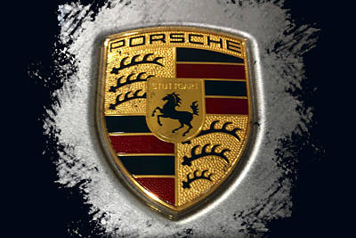 Vintage Signs - Porsche Logo by Shoal Hollingsworth