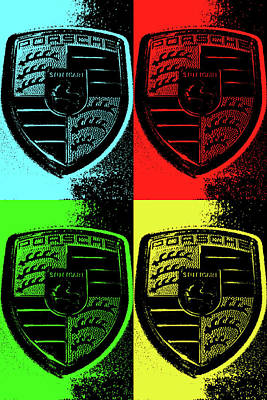 Sports Royalty-Free and Rights-Managed Images - Porsche Pop Art by Shoal Hollingsworth