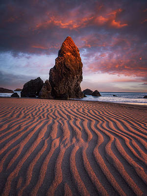 David Bowie Royalty Free Images - Port Orford Sunset Royalty-Free Image by Darren White