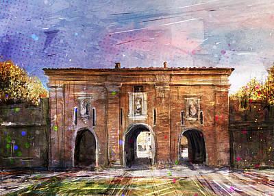 Digital Art - Porta Santa Maria by Andrea Gatti