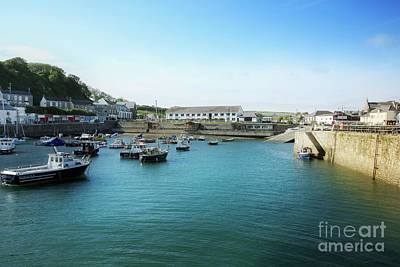 Bath Time - Porthleven Inner Harbour from the Baulk Wall by Terri Waters