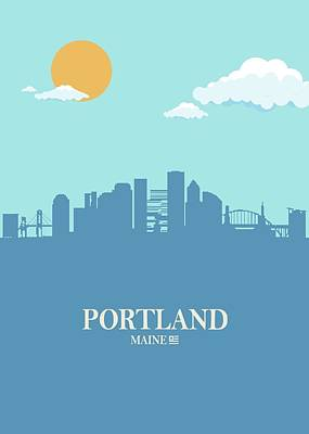 Achieving Royalty Free Images - Portland City Skyline Bluesky Royalty-Free Image by Ahmad Nusyirwan