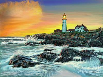 Antlers - Portland Head Lighthouse by Gary F Richards