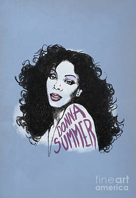 Water Droplets Sharon Johnstone - Portrait Donna Summer by Monkey Crisis On Mars