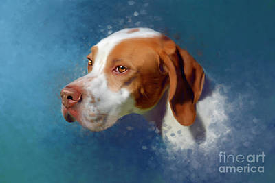 Painting - Portrait of a Pointer by Michelle Wrighton