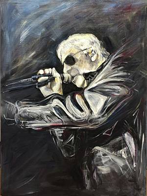 Painting - Portrait of a Singer by Susan Carson