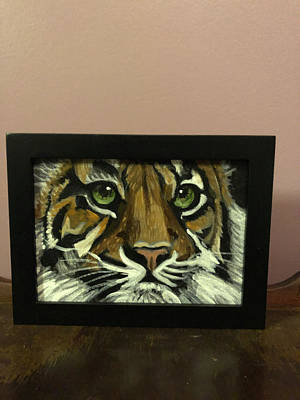 Painting - Portrait of a tiger by Mary Beth D'Aloia