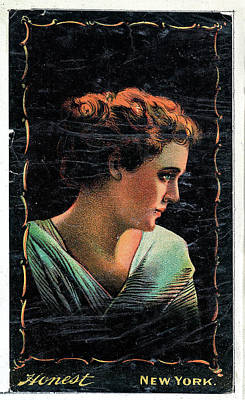 Catch Of The Day - Portrait of actress in profile facing right from the Transparencies series N137 issued by W Duke Son by Artistic Rifki