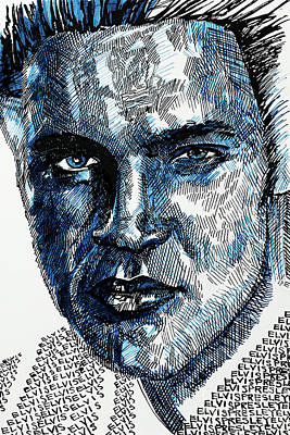 Purely Purple - Portrait of Elvis Presley by Robert Yaeger