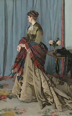 Watercolor Alphabet - Portrait of Mrs. Gaudibert by Celestial Images