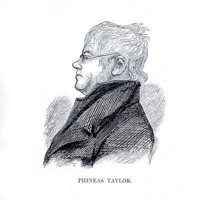 Drawings Royalty Free Images - Portrait of Phineas Taylor i1 Royalty-Free Image by Historic illustrations