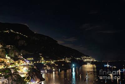 Photograph - Positano Lights by Kasra Rassouli