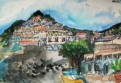 Painting - Positano by Meredith Palmer