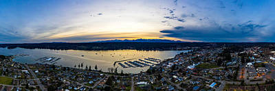 Impressionist Landscapes - Poulsbo Pano by Clinton Ward