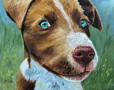 Painting - Pound Pup by Jan Priddy