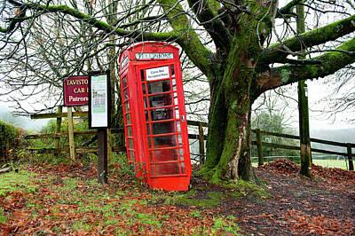 Photograph - Poundsgate Red Telephone Box Dartmoor by Helen Northcott