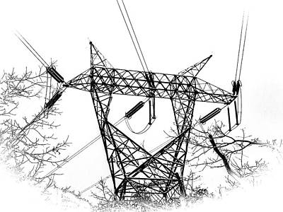 Photograph - Power Lines  by Louis Dallara