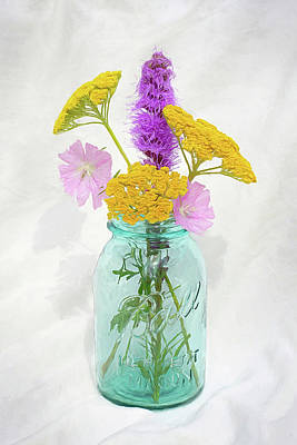 Lovely Lavender - Prairie Floral Still Life by Kathi Mirto