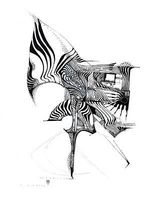 Animals Drawings - Prancing Pony by Alex Ruiz