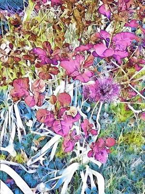 Mixed Media Royalty Free Images - Pretty Garden Mosaic Royalty-Free Image by Eileen Backman