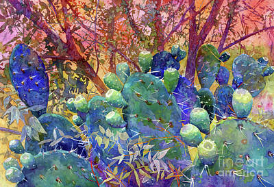 Open Impressionism California Desert - Prickly Patch by Hailey E Herrera